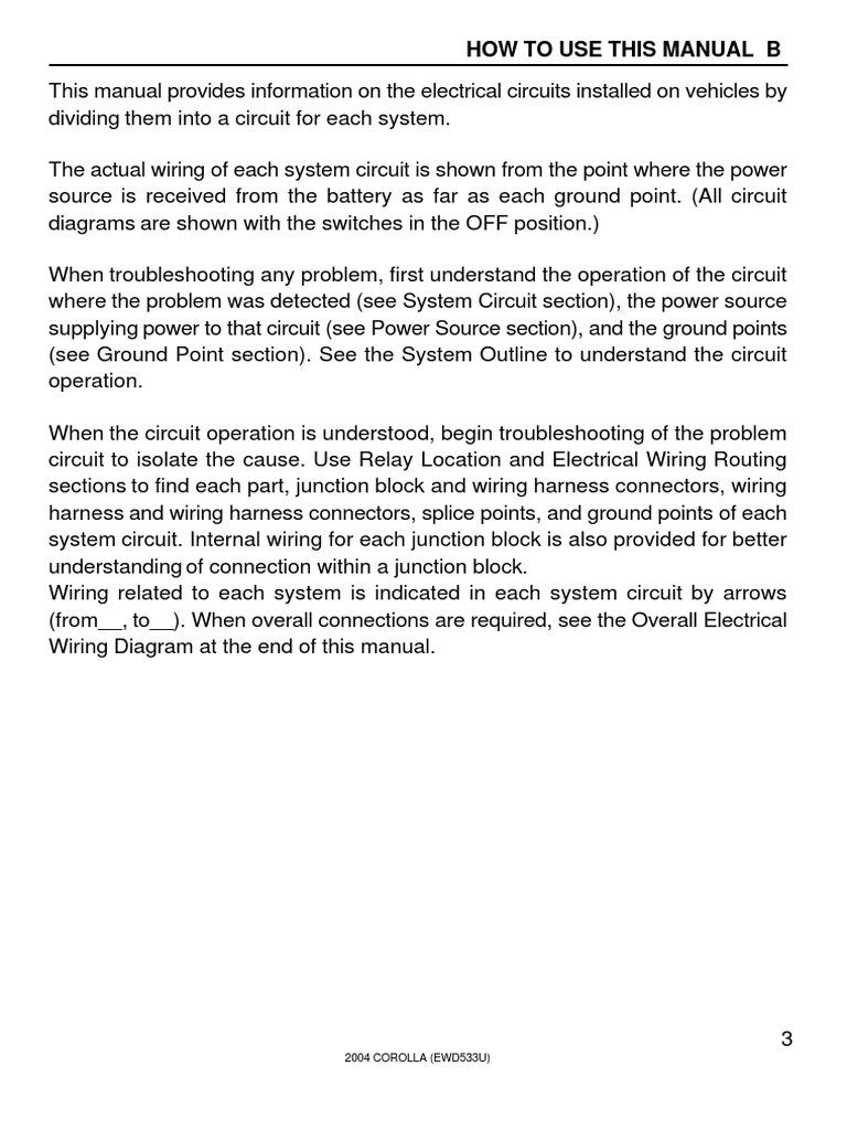 Toyota Corolla Repair Manual: Short in pt squib (lh) circuit (to b)