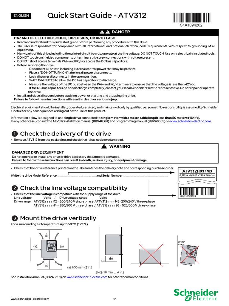 Schneider vfd atv312 manual