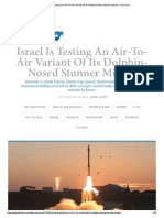 Israel is Testing an Air-To-Air Variant of Its Dolphin-Nosed Stunner Missile - The Drive