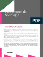 Precursores de Sociologia