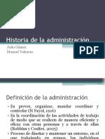 Historia de La Administración- Exposición