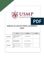 Manual de Uso Del Portal Academico USMP