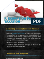Exemption From Taxation