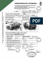 Fiche d'homologation Renault 5 Turbo Gr.3 / Gr.4