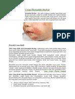 Obat Asma Kulit Atau Dermatitis Herbal
