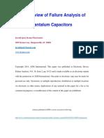 Tantalum Cap Failure Analysis Review by Javaid Qazi