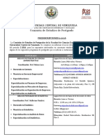 Aviso_Preinscripcion_-2-2016 POSTGRADO FACES - UCV (UNIVERSIDAD CENTRAL DE VENEZUELA).pdf
