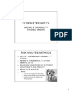 Design for Safety Hazops