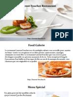 Laurent Foucher - Un restuarnt pour tous les gourmets français