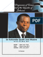 Masire Funeral Programme