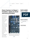 Data Centers in Nepal - Location, Types & Cloud Services Provided • TechSansar