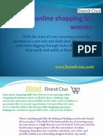 Online Shopping on Brandcruz