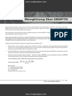 Cara Menghitung Skor SBMPTN
