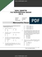 Soal SBMPTN Test Kemampuan Dasar 2013 Dan Jawaban