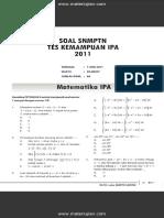 Soal SNMPTN Test Kemampuan IPA 2011 Dan Jawaban