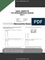 Soal SNMPTN Test Kemampuan Dasar 2011 Dan Jawaban