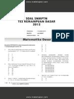 Soal SNMPTN Test Kemampuan Dasar 2012 Dan Jawaban