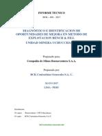 Informe Diagnostico b&f Um Uchucchacua