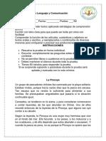 Prueba de Lenguaje y Comunicación u Idad 3