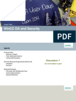 Security and Wincc Oa