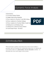 Lecture03- Dynamic Force Analysis