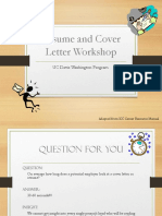 Resume and Cover Letter Workshopdfsdfsdf