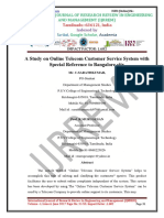A Study on Online Telecom Customer Service System with Special Reference to Bangalore city