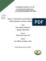 DISEÃ'OYCONSTRUCCIONDEUNPROTOTIPODEGENERACIONELECTRICABASADOENUNMICROTURBINAPELTON