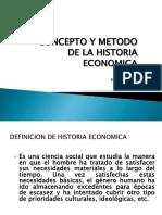 Concepto y Metodo de La Historia Economica 1