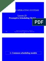 Preemptive Scheduling Model