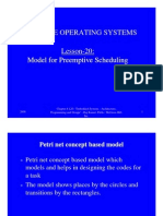 Critical Section Service by a Preemptive Model
