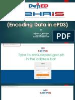 EPDS EHRIS Presentation by Alfredo c Medrano