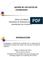 Clase 3. Determinación de Los Datos de Lavabilidad en Flotación (1)