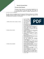 Derecho Procesal Penal Estructura Del Proceso Penal Sumario y El Proceso Investigacion