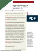 Effect of Insulin Degludec vs Insulin Glargine U100