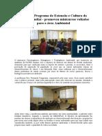 O PEC - Programa de Extensão e Cultura da FATEC Jundiaí - promoveu minicursos voltados para a área Ambiental