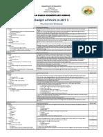 Budget of Work ART5