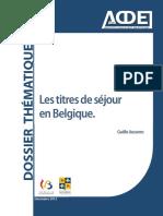 Les Titres de Sejours en Belgique