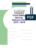 Food Safety Service Delivery Plan