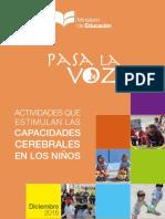 Pasa La Voz Capacidades Cerebrales Para Iniciales 2016-2017