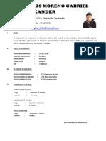 Curriculum de Gabriel
