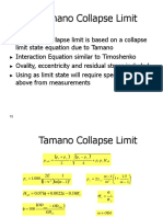 Tamano Collapse Limit