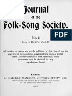 Journal of the Folk Song Society No.8
