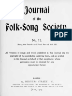 Journal of the Folk Song Society No.13