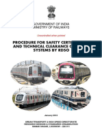 Procedure for Safety Certification and Technical Clearance of Metro Systems by Rdso (Jan-2013)
