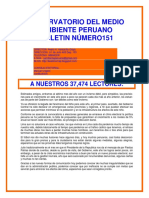 Boletin N° 151-Observatorio Medio Ambiente Peruano