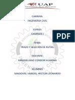 Sandoval Informe -Caminos