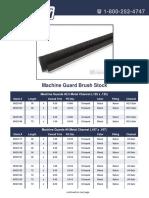 Machine Guard Brush Stock