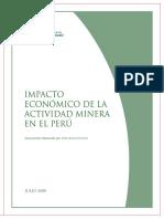 Impacto Ecomonico de Actividad Minera en El Peru Julio 2008