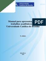 Manual de apresentação de trabalhos